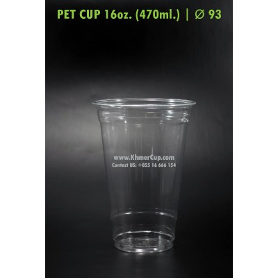 PET Cup 16oz. | Lid Ø 93